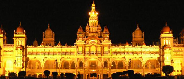 Mysore-Palace-Evening-Night-view   Saniya Holidays